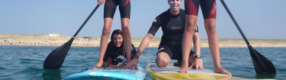 Stand up paddle with your family in Seignosse