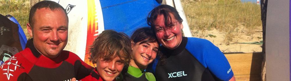 Surf lessons for the whole family with Natural Surf School