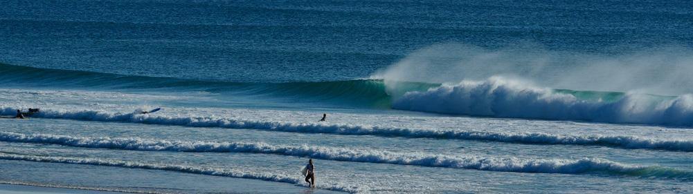 Great beach breaks to lern surfing and perform