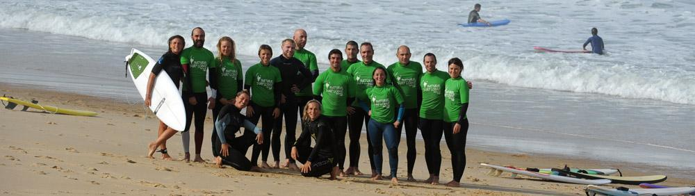 Surf group at Natural Surf School